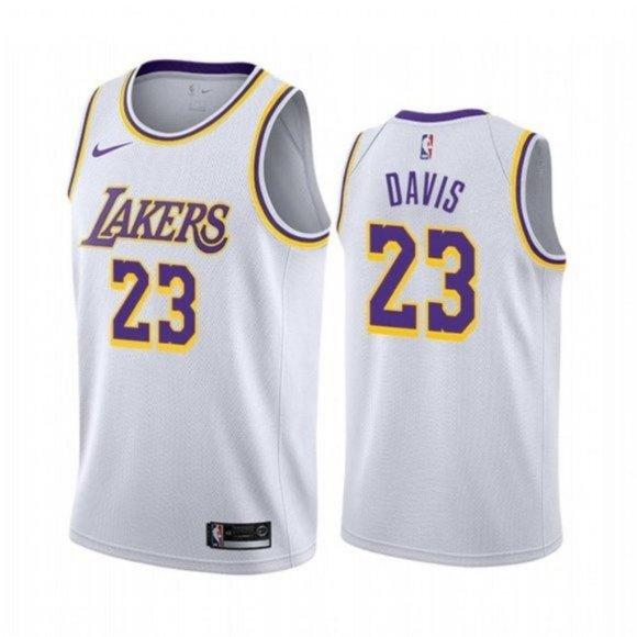 Shirts | Los Angeles Lakers Anthony Davis White Jersey | Poshmark